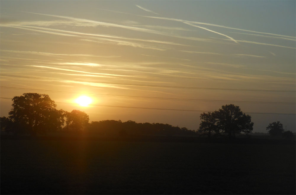Sunrise from the train 17 Oct 2017