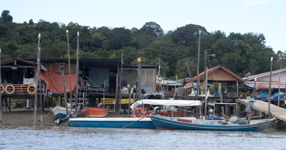Fishermen huts Bako Mar 2017