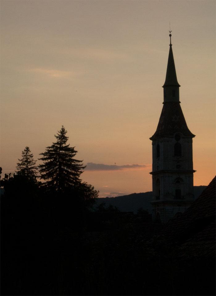 Daia church at sundown