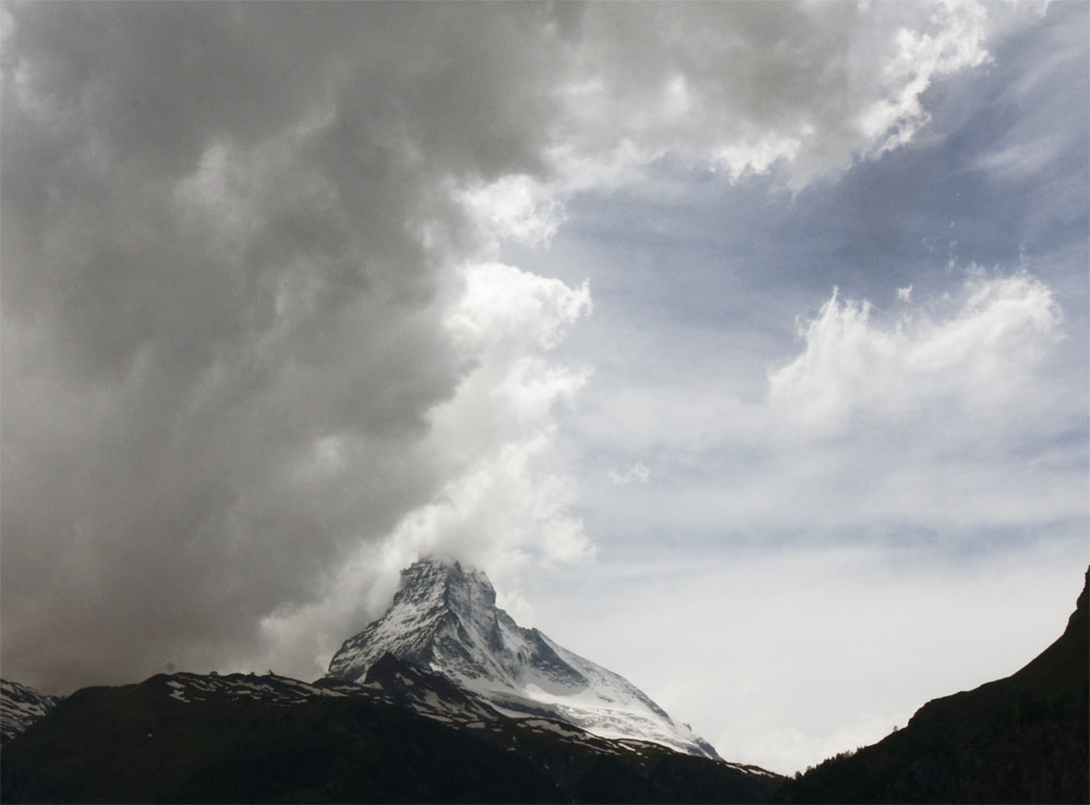 Matterhorn in thunderstorm Jun 19